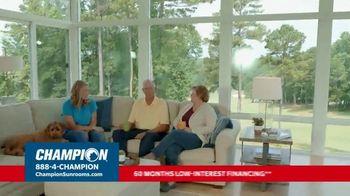 Champion Sunrooms TV Spot, 'Enjoy More Space' - Thumbnail 4
