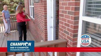 Champion Sunrooms TV Spot, 'Enjoy More Space' - Thumbnail 7