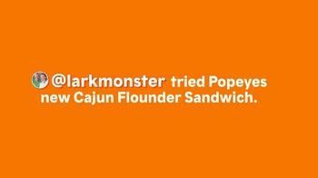 Popeyes Cajun Flounder Sandwich TV Spot, '@larkmonster' - Thumbnail 1