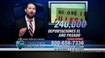 Consumer Law Group TV Spot, 'Ciudadanía estadounidense denegada' [Spanish]