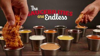Zaxby's Chicken Finger Plate TV Spot, 'Saucebilities' - Thumbnail 5