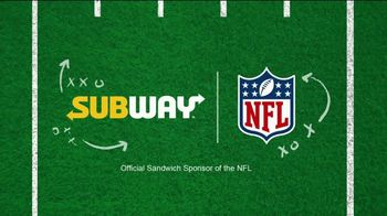 Subway TV Spot, 'NFL: Freshest Plays of the Week: Got Moves' - Thumbnail 8