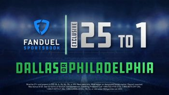 FanDuel Sportsbook TV Spot, 'Sunday Showdown: Dallas vs. Philadelphia: 25 to 1' - Thumbnail 8