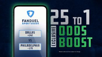 FanDuel Sportsbook TV Spot, 'Sunday Showdown: Dallas vs. Philadelphia: 25 to 1' - Thumbnail 3