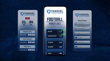 FanDuel Sportsbook TV Spot, 'Sunday Showdown: Dallas vs. Philadelphia: 25 to 1' - Thumbnail 5