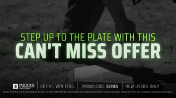 DraftKings at Casino Queen Sportsbook TV Spot, 'Baseball's Championship Series: Bet $1 to Win $100' - Thumbnail 3