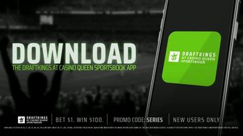 DraftKings at Casino Queen Sportsbook TV Spot, 'Baseball's Championship Series: Bet $1 to Win $100' - Thumbnail 6
