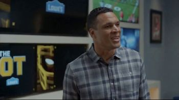 Lowe's TV Spot, 'The OT on FOX: Built My Home Into a Stadium' Featuring Curt Menefee, Tony Gonzalez - Thumbnail 4