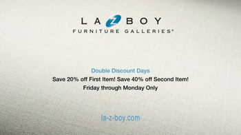 La-Z-Boy Double Discount Days TV Spot, 'Special Piece: 20% Off First Item and 40% Off Second Item' - Thumbnail 7