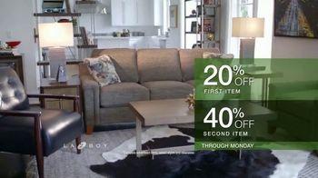 La-Z-Boy Double Discount Days TV Spot, 'Special Piece: 20% Off First Item and 40% Off Second Item' - Thumbnail 5