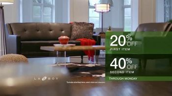 La-Z-Boy Double Discount Days TV Spot, 'Special Piece: 20% Off First Item and 40% Off Second Item' - Thumbnail 6
