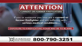 Guardian Legal Network TV Spot, \'Current or Former Firefighters\'