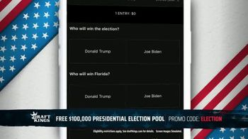 DraftKings TV Spot, 'Presidential Election Pool: $100,000' - Thumbnail 5