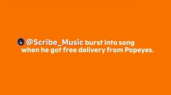 Popeyes TV Spot, 'ScribeMusic: Free Delivery' - Thumbnail 1