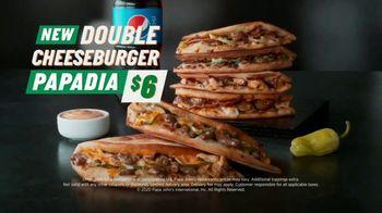 Papa John's Double Cheeseburger Papadia TV Spot, 'Meat Bounces' Song by Zapp - Thumbnail 9