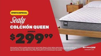 Mattress Firm Save Big Sale TV Spot, 'Sealy colchón queen: $299.99 dólares' [Spanish] - Thumbnail 5