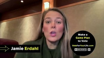 Vote for Your Life TV Spot, 'CBS Sports: Game Plan' Featuring Ian Eagle, Jamie Erdahl, Charles Davis, Tracy Wolfson - Thumbnail 3