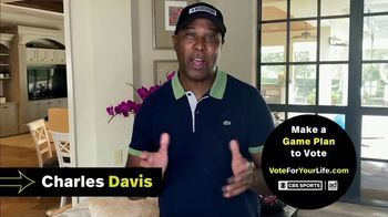 Vote for Your Life TV Spot, 'CBS Sports: Game Plan' Featuring Ian Eagle, Jamie Erdahl, Charles Davis, Tracy Wolfson - Thumbnail 5