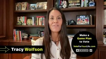 Vote for Your Life TV Spot, 'CBS Sports: Game Plan' Featuring Ian Eagle, Jamie Erdahl, Charles Davis, Tracy Wolfson - Thumbnail 7