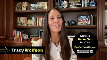 Vote for Your Life TV Spot, 'CBS Sports: Game Plan' Featuring Ian Eagle, Jamie Erdahl, Charles Davis, Tracy Wolfson - Thumbnail 8