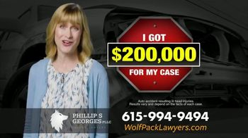 Phillip S. Georges, PLLC TV Spot, 'Hurt in a Car Wreck: Stop and Think'