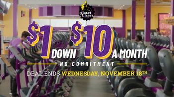 Planet Fitness TV Spot, 'Get Moving: $1 Down $10 a Month' - Thumbnail 1