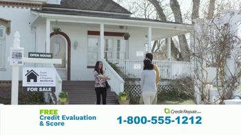 CreditRepair.com TV Spot, 'Live Action: Free Evaluation and Score' - Thumbnail 1