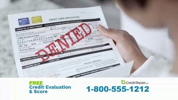 CreditRepair.com TV Spot, 'Live Action: Free Evaluation and Score'