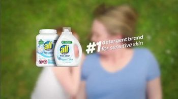 All Laundry Detergent Free Clear TV Spot, 'Sensitive Skin: Pods' - Thumbnail 10