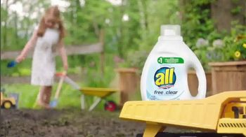 All Laundry Detergent Free Clear TV Spot, 'Sensitive Skin: Pods' - Thumbnail 3