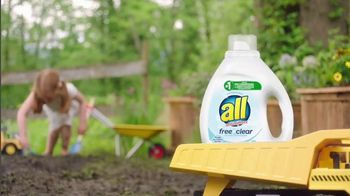 All Laundry Detergent Free Clear TV Spot, 'Sensitive Skin: Pods'
