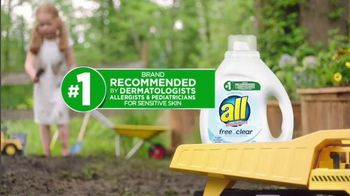 All Laundry Detergent Free Clear TV Spot, 'Sensitive Skin: Pods' - Thumbnail 6