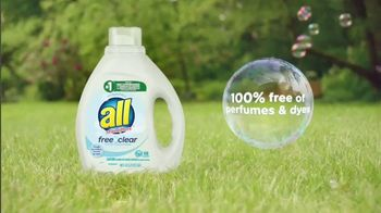 All Laundry Detergent Free Clear TV Spot, 'Sensitive Skin: Pods' - Thumbnail 7