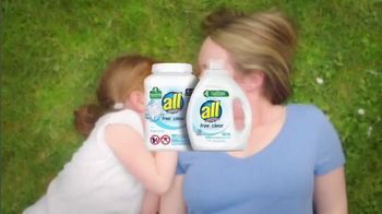 All Laundry Detergent Free Clear TV Spot, 'Sensitive Skin: Pods' - Thumbnail 9