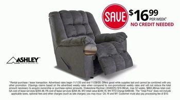 Rent-A-Center Black Friday Savings TV Spot, Ashley Bedroom, Recliner and Living Room Bundle' - Thumbnail 8