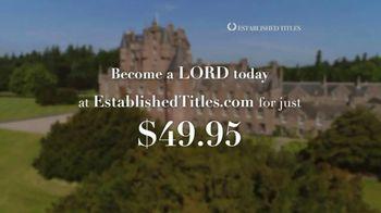Established Titles TV Spot, 'Holidays: Make Them a Lord Today' - Thumbnail 10