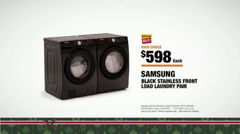 The Home Depot Black Friday Prices TV Spot, 'Holiday Help: Samsung Laundry Pairs for $598' - Thumbnail 8