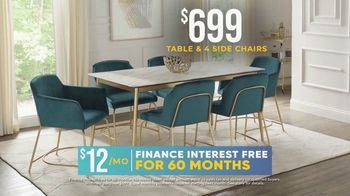 Rooms to Go Holiday Sale TV Spot, 'Modern Five Piece Dining Set: $699' - Thumbnail 5