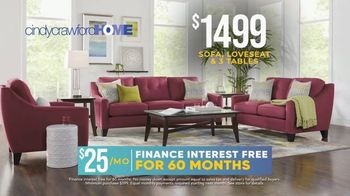 Rooms to Go Holiday Sale TV Spot, 'Cindy Crawford Home Eye-Catching Living Room Set: $1,499' - Thumbnail 3