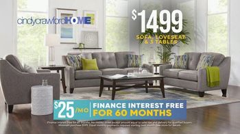 Rooms to Go Holiday Sale TV Spot, 'Cindy Crawford Home Eye-Catching Living Room Set: $1,499' - Thumbnail 4