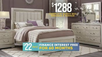 Rooms to Go Holiday Sale TV Spot, 'Five Piece Bedroom Sets: $1,288' - Thumbnail 4