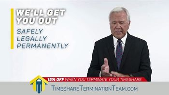 Timeshare Termination Team TV Spot, 'Costly Fees: 15% Off' - Thumbnail 3