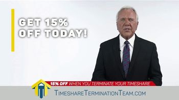 Timeshare Termination Team TV Spot, 'Costly Fees: 15% Off' - Thumbnail 8