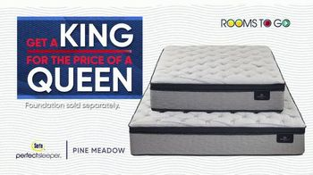 Rooms to Go Holiday Sale TV Spot, 'King Mattress for the Price of a Queen' - Thumbnail 5
