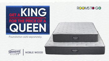 Rooms to Go Holiday Sale TV Spot, 'King Mattress for the Price of a Queen' - Thumbnail 6