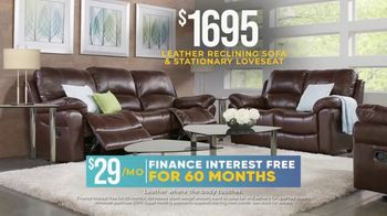 Rooms to Go Holiday Sale TV Spot, 'Leather Reclining Sofa & Stationary Loveseat: $1,695' - Thumbnail 5