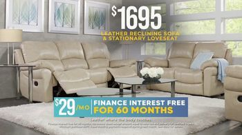 Rooms to Go Holiday Sale TV Spot, 'Leather Reclining Sofa & Stationary Loveseat: $1,695' - Thumbnail 7