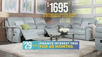 Rooms to Go Holiday Sale TV Spot, 'Leather Reclining Sofa & Stationary Loveseat: $1,695' - Thumbnail 8