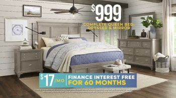 Rooms to Go Holiday Sale TV Spot, 'Coastal-Inspired Five Piece Bedroom Set: $999' - Thumbnail 3