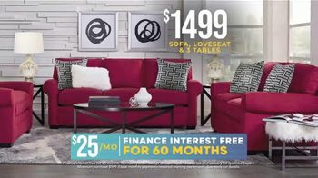 Rooms to Go Holiday Sale TV Spot, 'Chic Five Piece Living Room Set: $1,499' - Thumbnail 5